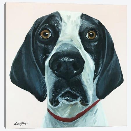 Hound Dog Pink Canvas Print #HHS429} by Hippie Hound Studios Canvas Art