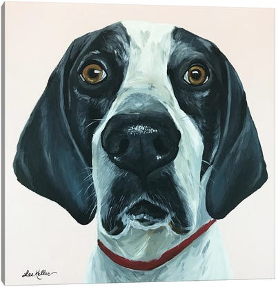 Hound Dog Pink Canvas Art Print