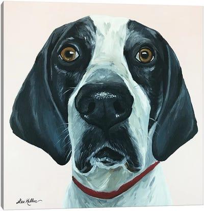 Hound Dog Pink Canvas Art Print