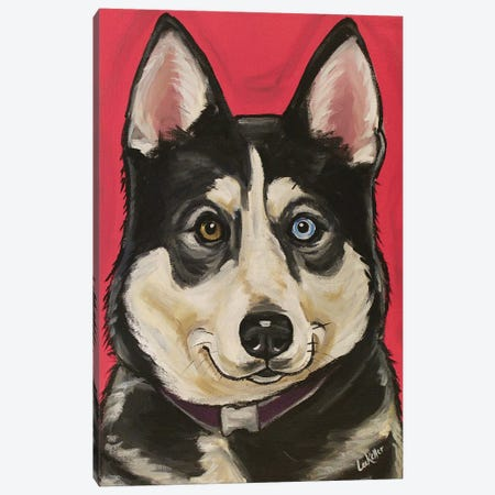 Husky Kara Canvas Print #HHS430} by Hippie Hound Studios Art Print