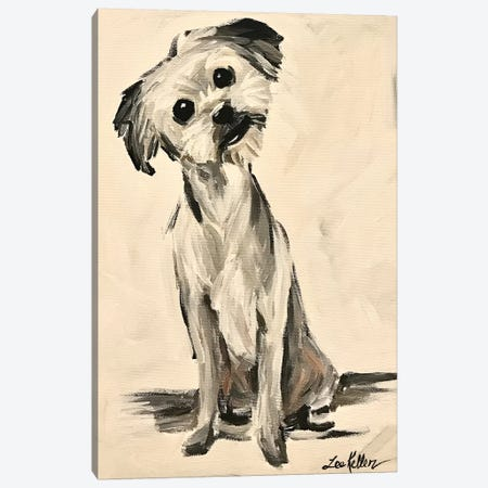 Little Terrier Dog Expressive Canvas Print #HHS433} by Hippie Hound Studios Canvas Print