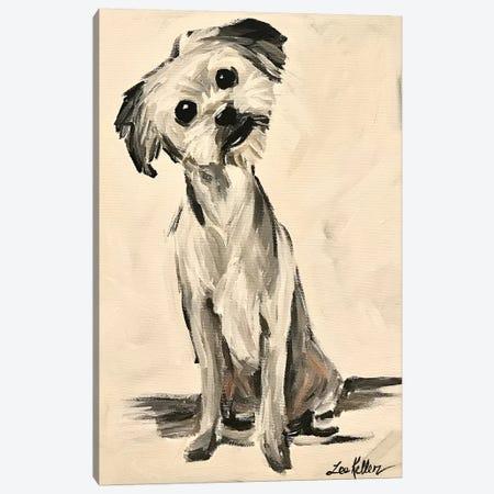 Little Terrier Dog Expressive 3-Piece Canvas #HHS433} by Hippie Hound Studios Canvas Print
