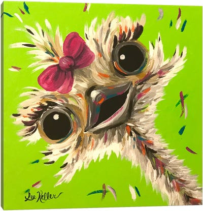 Ostrich Fifi Canvas Art Print