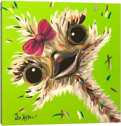 Ostrich Fifi Canvas Art Print