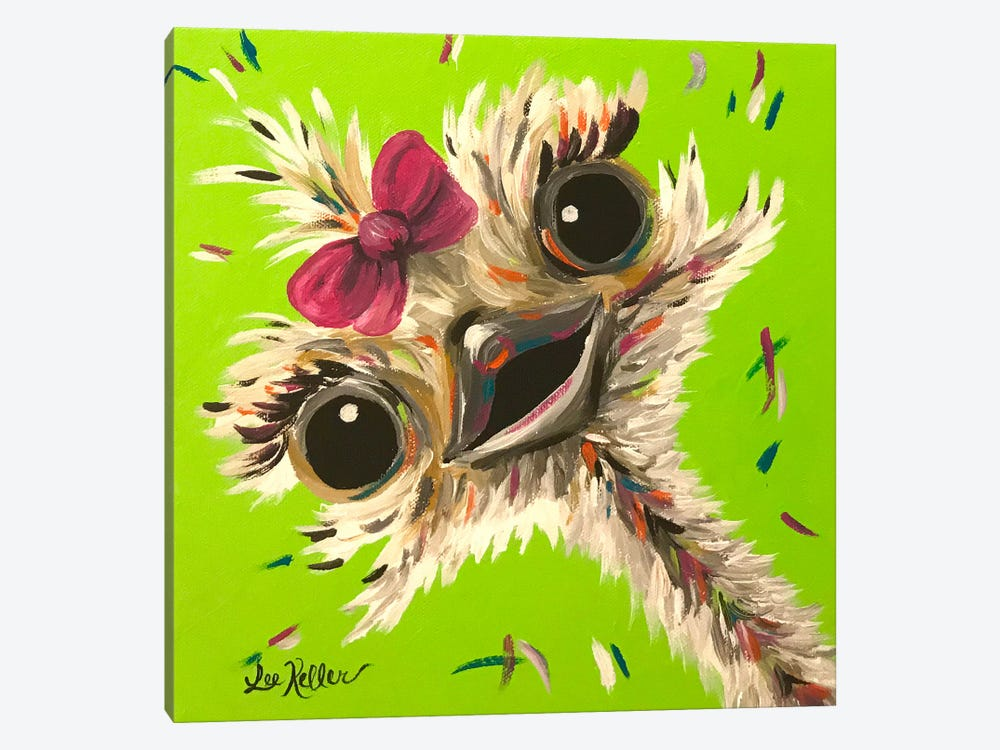 Ostrich Fifi by Hippie Hound Studios 1-piece Canvas Wall Art