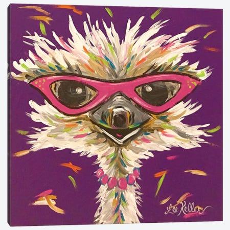 Ostrich Gladys Canvas Print #HHS438} by Hippie Hound Studios Canvas Art Print