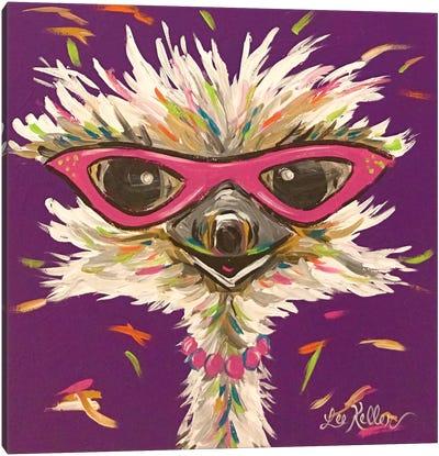 Ostrich Gladys Canvas Art Print