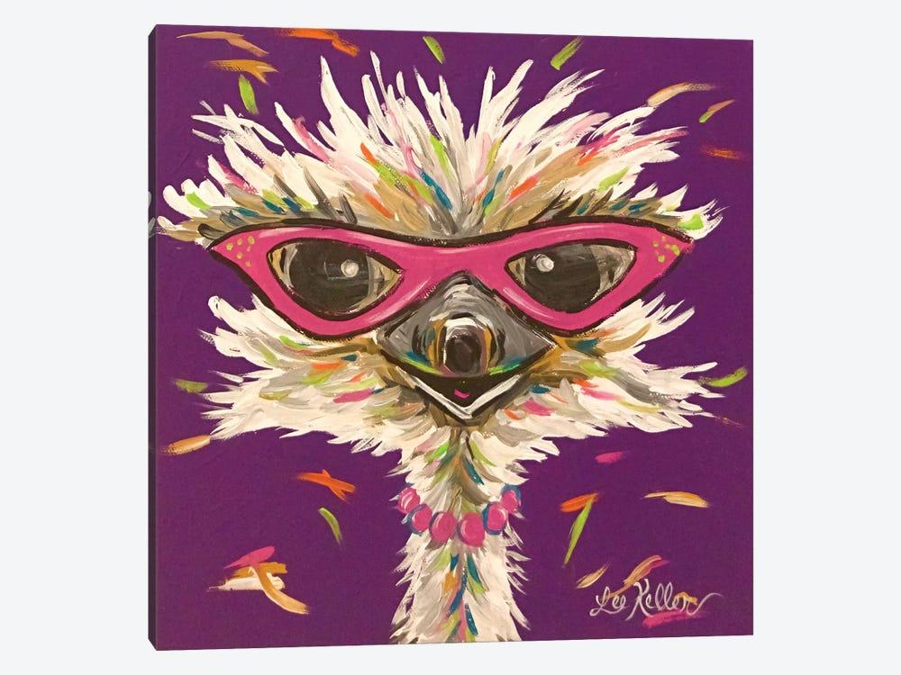 Ostrich Gladys by Hippie Hound Studios 1-piece Canvas Print