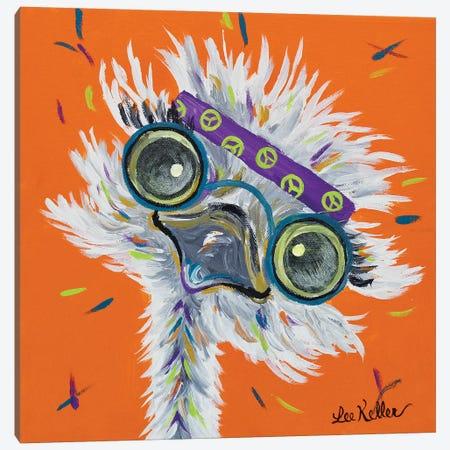 Ostrich Lennon Canvas Print #HHS439} by Hippie Hound Studios Canvas Art Print