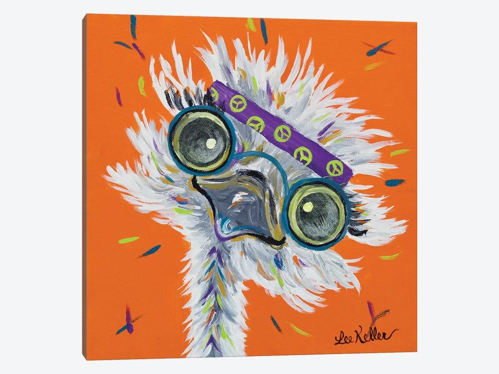 Ostrich Lennon by Hippie Hound Studios 1-piece Canvas Art