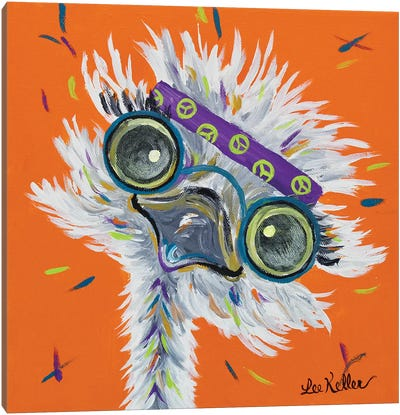Ostrich Lennon Canvas Art Print