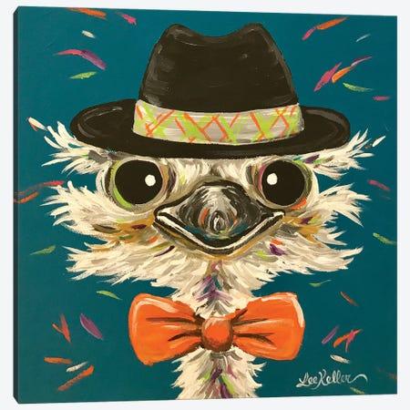 Ostrich Miles Canvas Print #HHS440} by Hippie Hound Studios Canvas Artwork