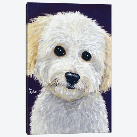 Pepper Mini Golden Doodle Canvas Print #HHS445} by Hippie Hound Studios Art Print