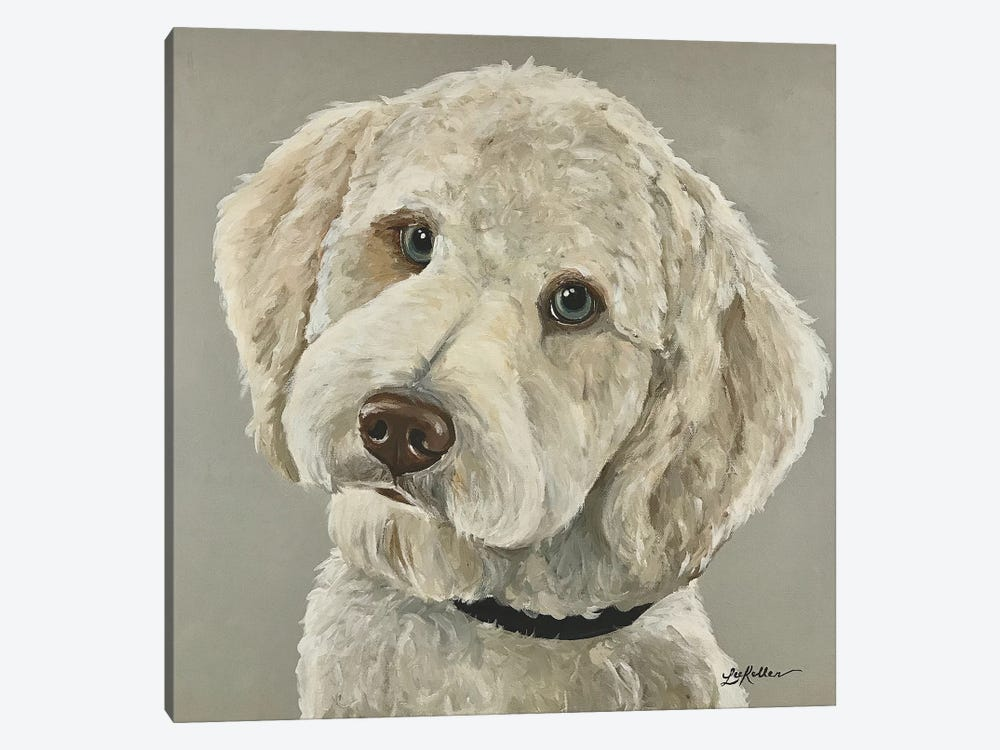Goldendoodle With Blue Eyes by Hippie Hound Studios 1-piece Canvas Artwork