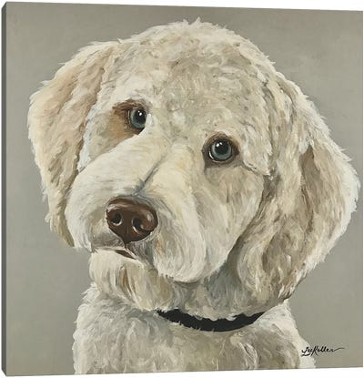 Goldendoodle With Blue Eyes Canvas Art Print