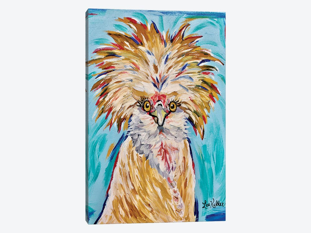 Polish Chicken Lola 1-piece Canvas Wall Art