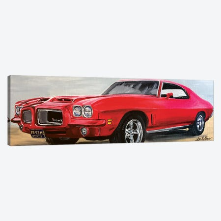 Pontiac Lemans Classic Car Canvas Print #HHS459} by Hippie Hound Studios Canvas Art Print