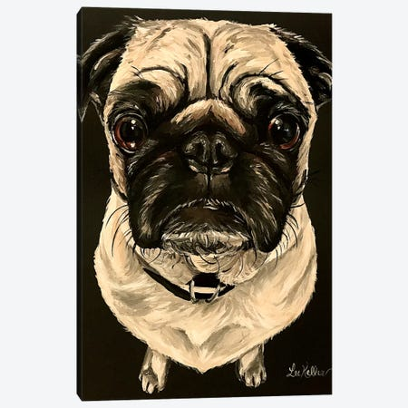Pug Canvas Print #HHS460} by Hippie Hound Studios Canvas Art