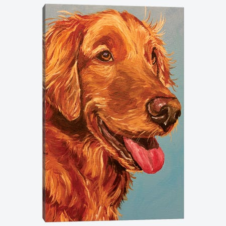 Red Retriever On Beach Canvas Print #HHS465} by Hippie Hound Studios Canvas Print
