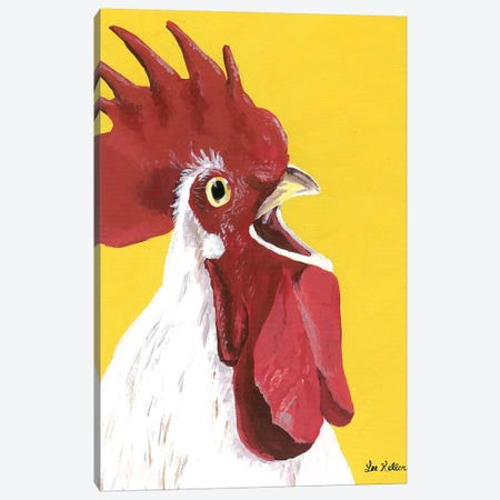 Rooster Ralph Canvas Print #HHS468} by Hippie Hound Studios Canvas Art