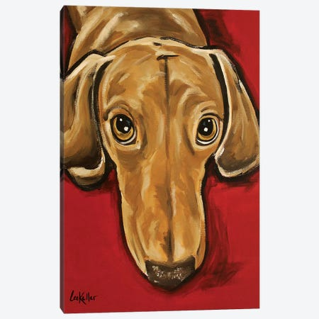 Sammy Dachshund Canvas Print #HHS470} by Hippie Hound Studios Art Print