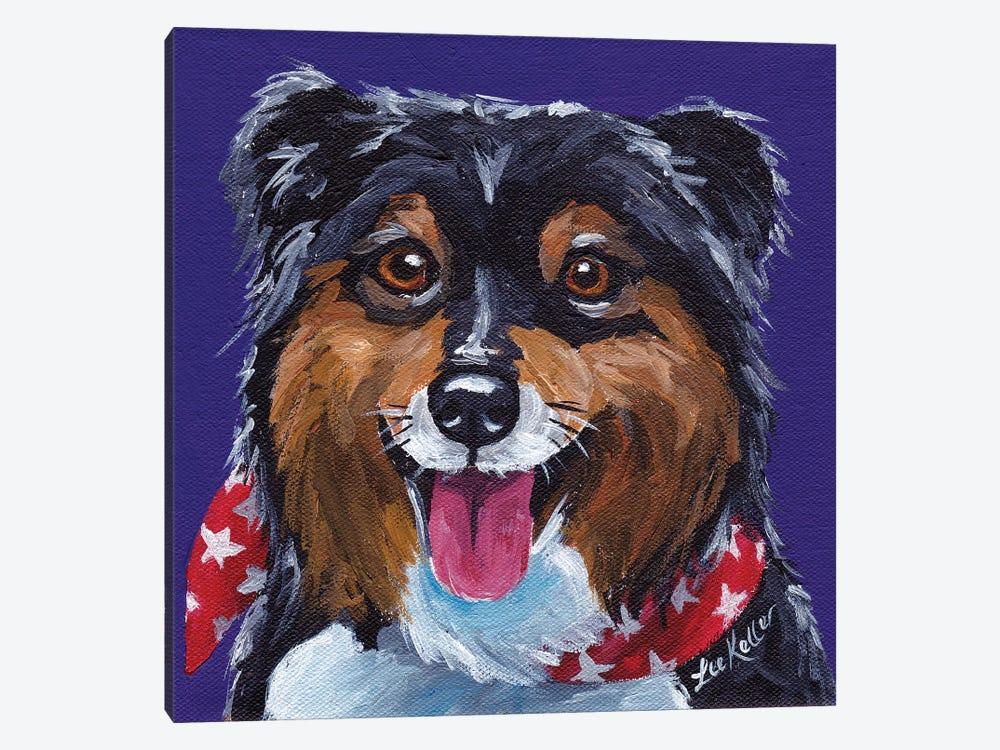 Shetland Sheepdog II by Hippie Hound Studios 1-piece Canvas Art Print
