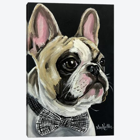 Spock French Bulldog Canvas Print #HHS480} by Hippie Hound Studios Canvas Art
