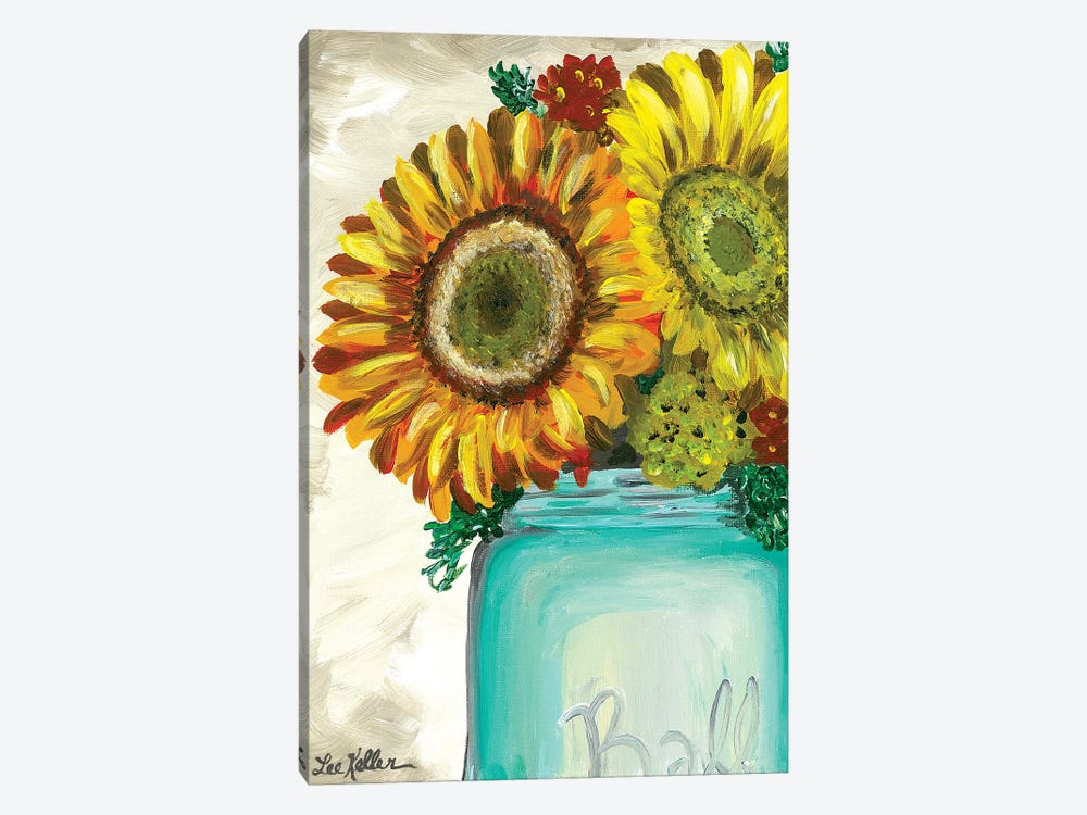 Sunflower 'Flowers From The Farm' by Hippie Hound Studios 1-piece Canvas Art