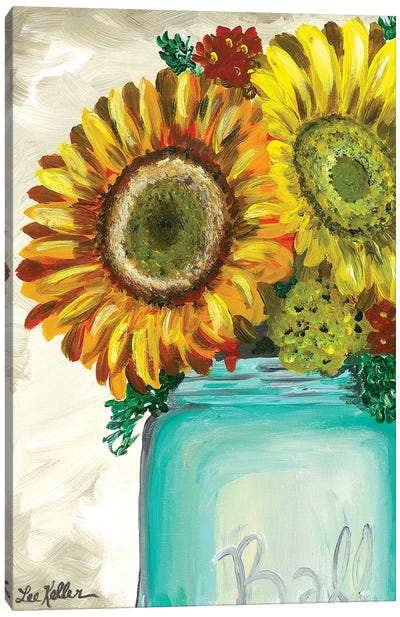Sunflower 'Flowers From The Farm' Canvas Art Print
