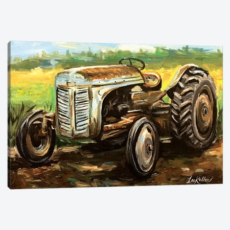 Vintage Tractor Canvas Print #HHS485} by Hippie Hound Studios Canvas Art Print