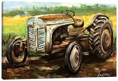 Vintage Tractor Canvas Art Print