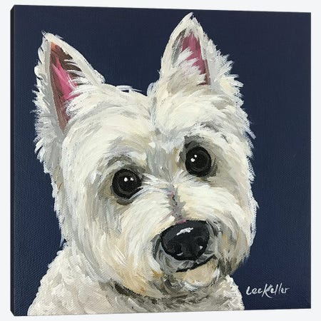 West Highland White Terrier I Canvas Print #HHS486} by Hippie Hound Studios Canvas Print