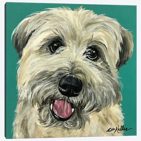 Wheaten Terrier I 3-Piece Canvas #HHS487} by Hippie Hound Studios Canvas Print