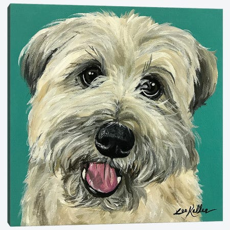 Wheaten Terrier I Canvas Print #HHS487} by Hippie Hound Studios Canvas Print