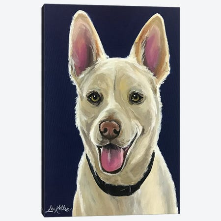 White German Shepherd Canvas Print #HHS489} by Hippie Hound Studios Canvas Art