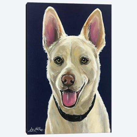 White German Shepherd Canvas Print #HHS489} by Hippie Hound Studios Canvas Art