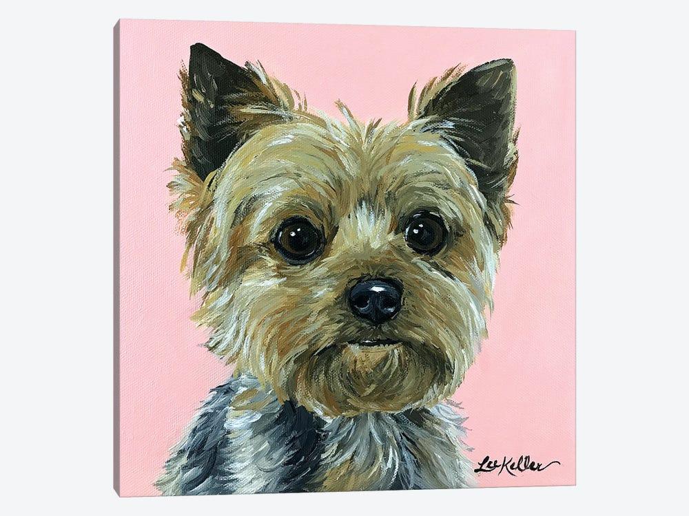 Yorkie Pink by Hippie Hound Studios 1-piece Canvas Art