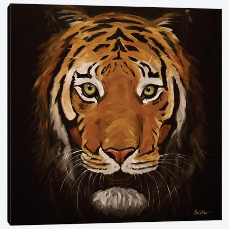 Asami The Tiger Canvas Print #HHS495} by Hippie Hound Studios Canvas Art