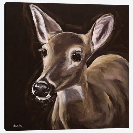 Nightfall, Whitetail Deer Painting Canvas Print #HHS497} by Hippie Hound Studios Canvas Art