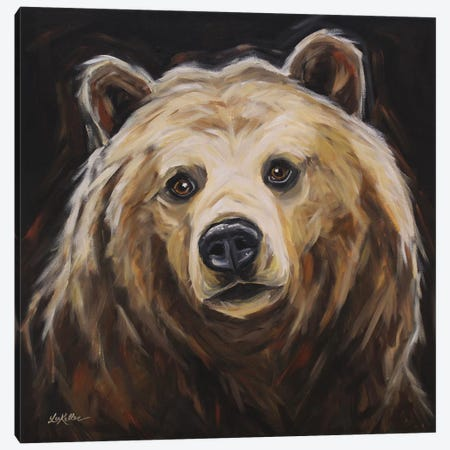 Honey The Grizzly Bear Canvas Print #HHS498} by Hippie Hound Studios Canvas Print