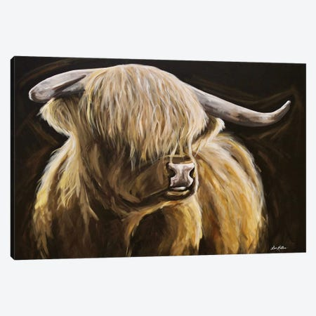 Clyde The Highland Cow Canvas Print #HHS499} by Hippie Hound Studios Canvas Art Print