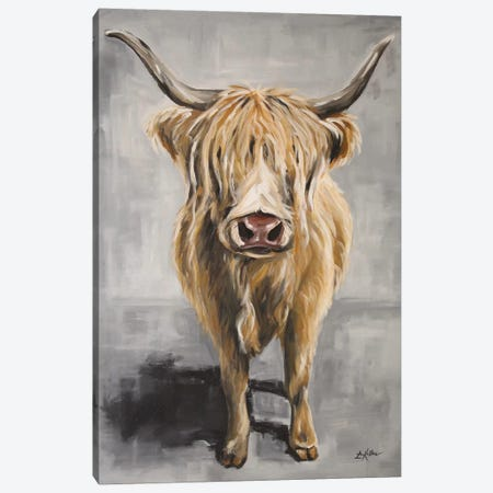 Shep The Highland Cow Canvas Print #HHS500} by Hippie Hound Studios Art Print