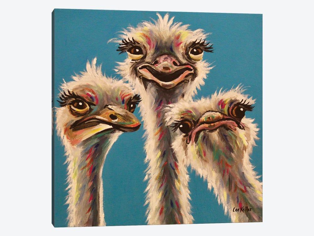 'Always, Ostrich Edition' by Hippie Hound Studios 1-piece Art Print
