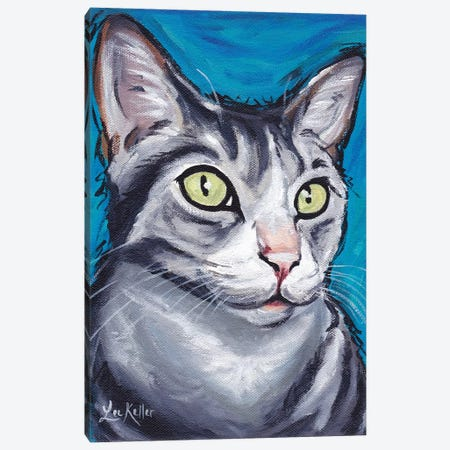 Shank The Tabby Cat Canvas Print #HHS516} by Hippie Hound Studios Canvas Art Print