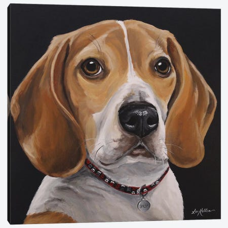 Indy The Beagle Canvas Print #HHS517} by Hippie Hound Studios Canvas Art Print