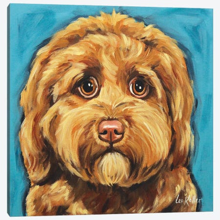 Sweet Chocolate Golden Doodle Canvas Print #HHS549} by Hippie Hound Studios Art Print