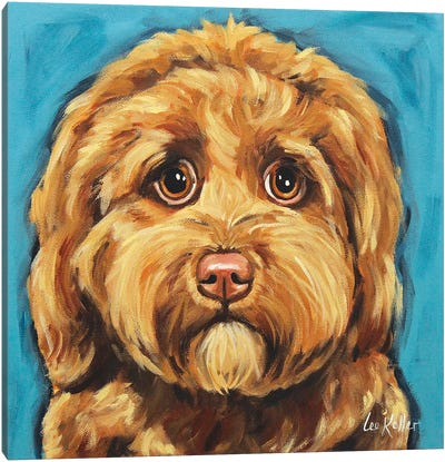 Sweet Chocolate Golden Doodle Canvas Art Print