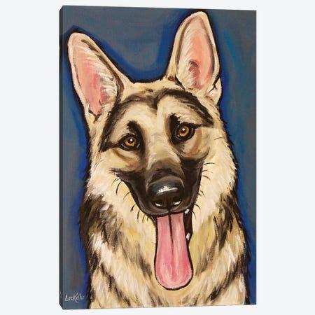 Happy German Shepherd Canvas Print #HHS552} by Hippie Hound Studios Canvas Art
