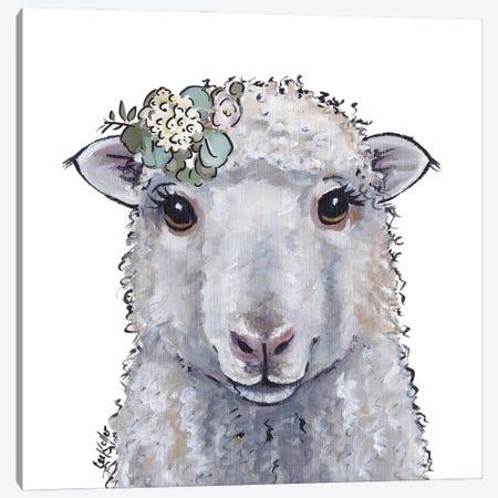 Farmhouse Sheep Stella Canvas Print #HHS557} by Hippie Hound Studios Art Print