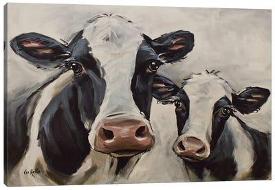 Farmhouse Cow Art, Mini-Me I Canvas Art Print